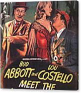 Abbott And Costello Meet The Invisible Man  Canvas Print