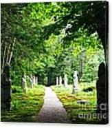 Abby Aldrich Rockefeller Path Statuary Canvas Print