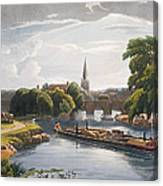Abingdon Bridge And Church, Engraved Canvas Print