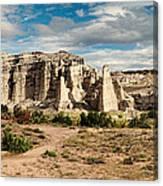 Abiquiu New Mexico Plaza Blanca In Technicolor Canvas Print