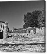 Abo Ruins 4 In Bw Canvas Print