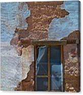 Abobe House Windows Canvas Print