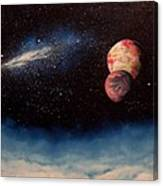 Above Alien Clouds Canvas Print