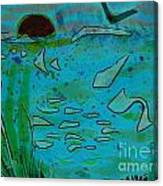 Above And Beneath The Sea Canvas Print