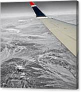 Above The Clouds Wing Tip View Sc Canvas Print