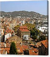 Above The Roofs Of Cannes Canvas Print