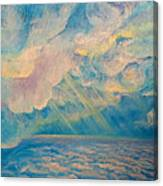 Above The Sun Splashed Clouds Canvas Print