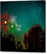 Above The Trees Below The Stars Celebration  Canvas Print