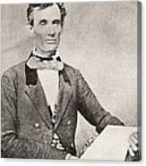 Abraham Lincoln, 1809 – 1865, Seen Here In 1854.  16th President Of The United States Of America Canvas Print