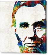 Abraham Lincoln Art - Colorful Abe - By Sharon Cummings Canvas Print
