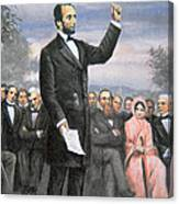 Abraham Lincoln Delivering The Gettysburg Address Canvas Print