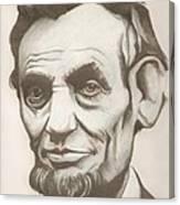 Abraham Lincoln Drawing Canvas Print