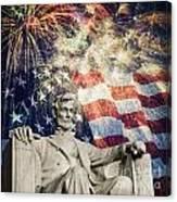 Abraham Lincoln Fireworks Canvas Print
