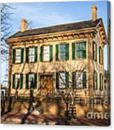Abraham Lincoln Home In Springfield Illinois Canvas Print