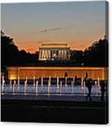 Abraham  Lincoln Memorial Sunset Canvas Print