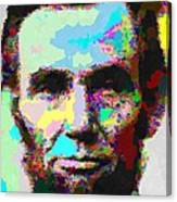 Abraham Lincoln Portrait - Abstract Canvas Print
