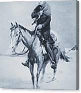 Abraham Lincoln Riding His Judicial Circuit Canvas Print