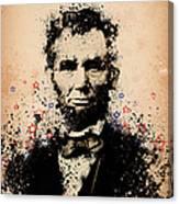 Abraham Lincoln Splats Color Canvas Print