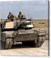 Abrams M1a1 Main Battle Tank Canvas Print