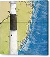 Absecon Lighthouse Nj Nautical Chart Map Art Cathy Peek Canvas Print