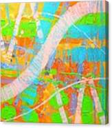 Abstract 23614  Diptych  II Canvas Print