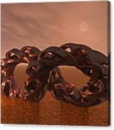 Abstract 331 A 3d Copper Sculpture Canvas Print