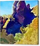 Abstract Arizona Mountain Peak In Autumn Canvas Print