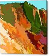 Abstract Arizona Mountains In The Afternoon  Canvas Print