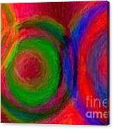 Separate Yet Together - Abstract Art  Canvas Print