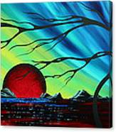 Abstract Art Landscape Seascape Bold Colorful Artwork Serenity By Madart Canvas Print