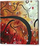 Abstract Art Original Circle Landscape By Madart Canvas Print