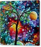 Abstract Art Original Colorful Landscape Painting A Moment In Time By Madart Canvas Print
