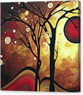 Abstract Art Original Landscape Painting Catch The Rising Sun By Madart Canvas Print