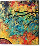Abstract Art Original Landscape Painting Go Forth I By Madart Studios Canvas Print