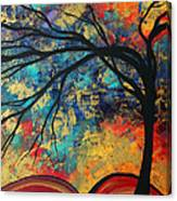 Abstract Art Original Landscape Painting Go Forth II By Madart Studios Canvas Print