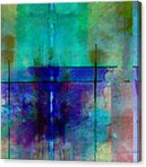 abstract - art- Rhapsody in Blue Canvas Print
