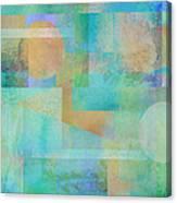 abstract art Tahitian Blue Canvas Print