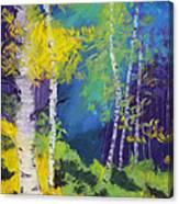 Abstract Aspens Canvas Print