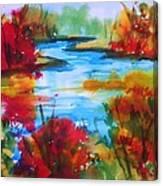 Abstract - Autumn Blaze On Catskill Creek Canvas Print