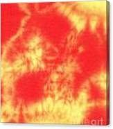 Abstract Batik In Yellow And Red Shades Canvas Print