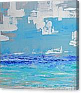 Silver Sky Beach Canvas Print