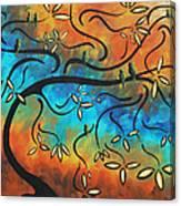 Abstract Bird Painting Original Art Madart Tree House Canvas Print