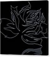 Abstract Black Rose  Canvas Print