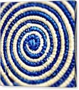 Abstract Blue Swirl Canvas Print