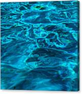 Abstract Blue Water Canvas Print