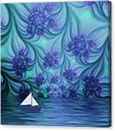 Abstract Blue World Canvas Print