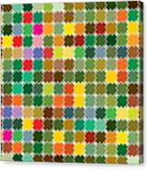 Abstract Bright Colorful Seamless Canvas Print