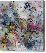Abstract Butterfly Dragonfly Painting Canvas Print