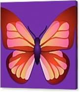 Butterfly Graphic Orange Pink Purple Canvas Print