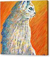 Jazzy Abstract Cat Canvas Print